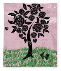 Rosey Posey Fleece Blanket