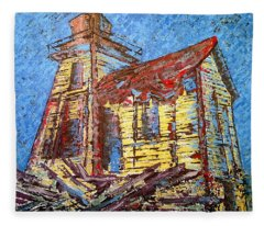 Ross Island Lighthouse Fleece Blanket