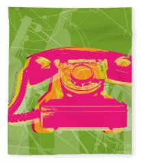 Rotary Phone Fleece Blanket