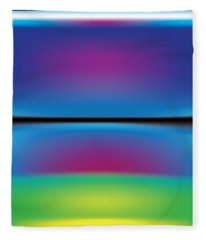 Rothko Blue Yellow Fleece Blanket