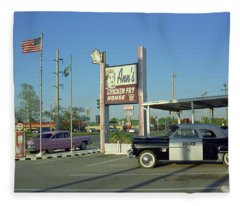 Route 66 - Anns Chicken Fry House Fleece Blanket