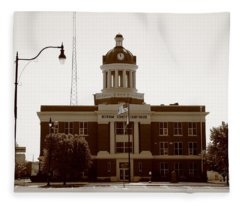 Route 66 - Beckham County Courthouse Fleece Blanket