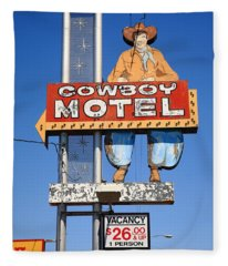 Route 66 - Cowboy Motel Fleece Blanket