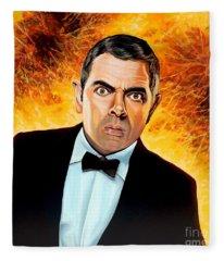 Rowan Atkinson Alias Johnny English Fleece Blanket