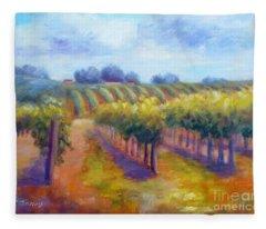 Rows Of Vines Fleece Blanket
