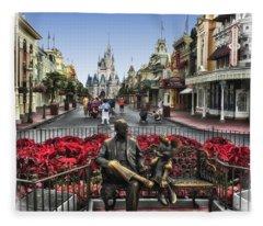 Roy And Minnie Mouse Walt Disney World Fleece Blanket