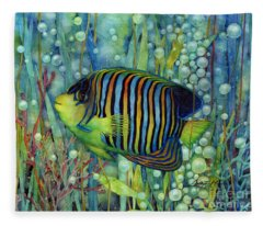 Royal Angelfish Fleece Blanket