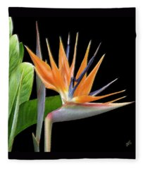 Royal Beauty I - Bird Of Paradise Fleece Blanket