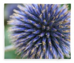 Royal Purple Scottish Thistle Fleece Blanket