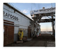 Royal Seafoods Monterey Fleece Blanket