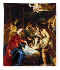 Rubens Adoration Fleece Blanket