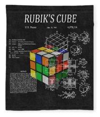 Rubik's Cube Patent 3 Fleece Blanket