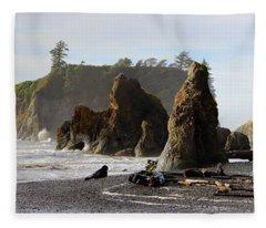 Ruby Beach Fleece Blanket
