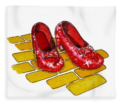 Ruby Slippers The Wizard Of Oz  Fleece Blanket