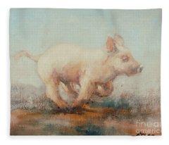 Running Piglet Fleece Blanket