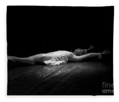 Russian Ballerina As A Melting Snowflake. Fleece Blanket