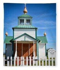 Russian Orthodox Church Fleece Blanket