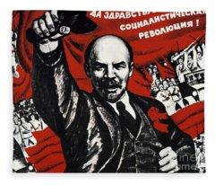 Russian Revolution October 1917 Vladimir Ilyich Lenin Ulyanov  1870 1924 Russian Revolutionary Fleece Blanket