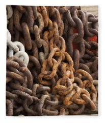Rust Chains Fleece Blanket