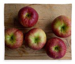 Rustic Apples Fleece Blanket