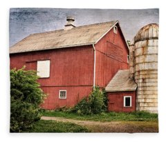 Rustic Barn Fleece Blanket