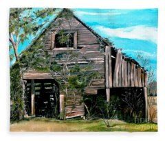 Rustic Barn - Mooresburg - Tennessee Fleece Blanket