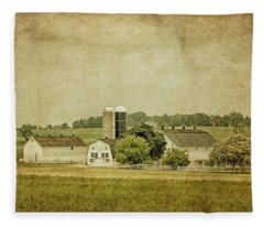 Rustic Farm - Barn Fleece Blanket
