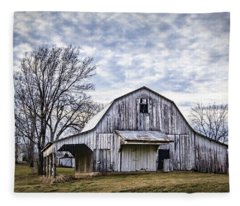 Rustic White Barn Fleece Blanket