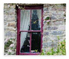 Rustic Window  Fleece Blanket