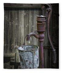 Rusty Hand Water Pump Fleece Blanket