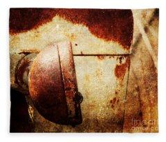 Rusty Headlamp Fleece Blanket