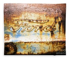 Rusty Old Ford Closeup Fleece Blanket