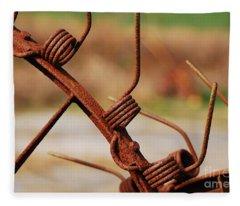 Rusty Tines Fleece Blanket