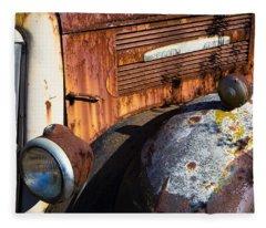 Rusty Truck Detail Fleece Blanket