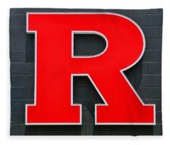 Rutgers Block R Fleece Blanket