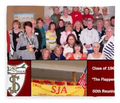 S J A Reunion Collage Flappers Fleece Blanket