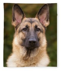 Sable German Shepherd Dog Fleece Blanket