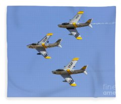 Sabres Of The Horsemen Fleece Blanket