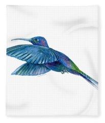 Sabrewing Hummingbird Fleece Blanket