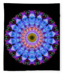 Sacred Crown - Mandala Art By Sharon Cummings Fleece Blanket