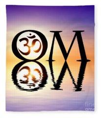 Sacred Om Fleece Blanket
