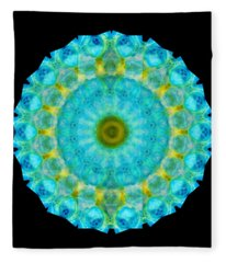 Sacred Voice - Mandala Art By Sharon Cummings Fleece Blanket