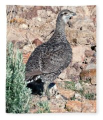 Sage Grouse Fleece Blanket