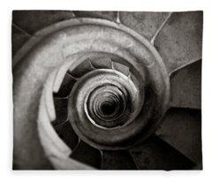 Spiral Staircase Photographs Fleece Blankets