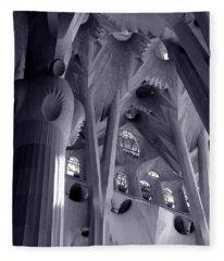 Sagrada Familia Vault Fleece Blanket