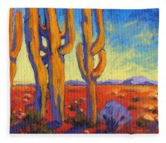 Saguaro 2 Fleece Blanket