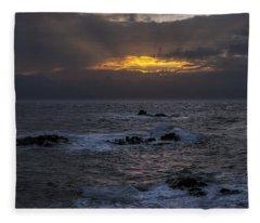 Sail Rock Sunrise 2 Fleece Blanket