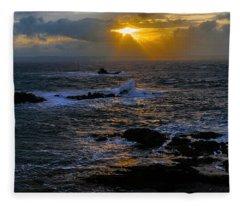 Sail Rock Sunrise Fleece Blanket