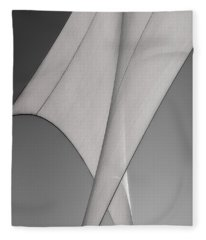 Sailcloth Abstract Number 3 Fleece Blanket