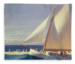 Sailing Boat Fleece Blanket